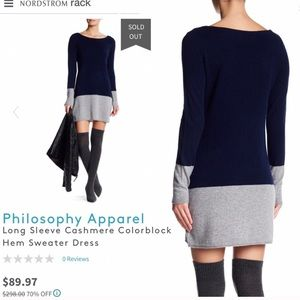 Philosophy Colorblock Navy Sweater dress
